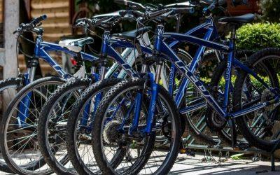 mirjana rastoke biking parked bicycles