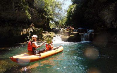mirjana rastoke kayak safari people gathering