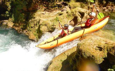 mirjana rastoke kayak safari two people kayak waterfall