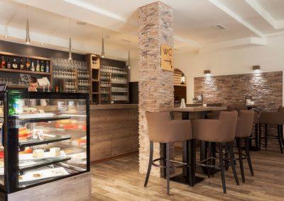 mirjana rastoke restaurant and bar lit up high chairs desserts